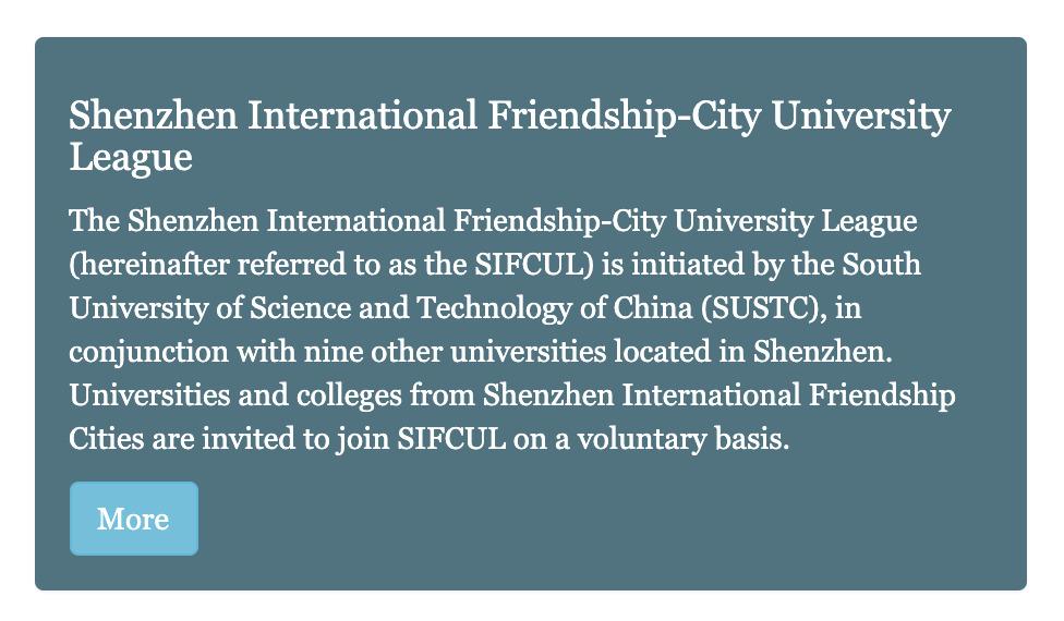 深圳国际友好城市大学联盟-介绍