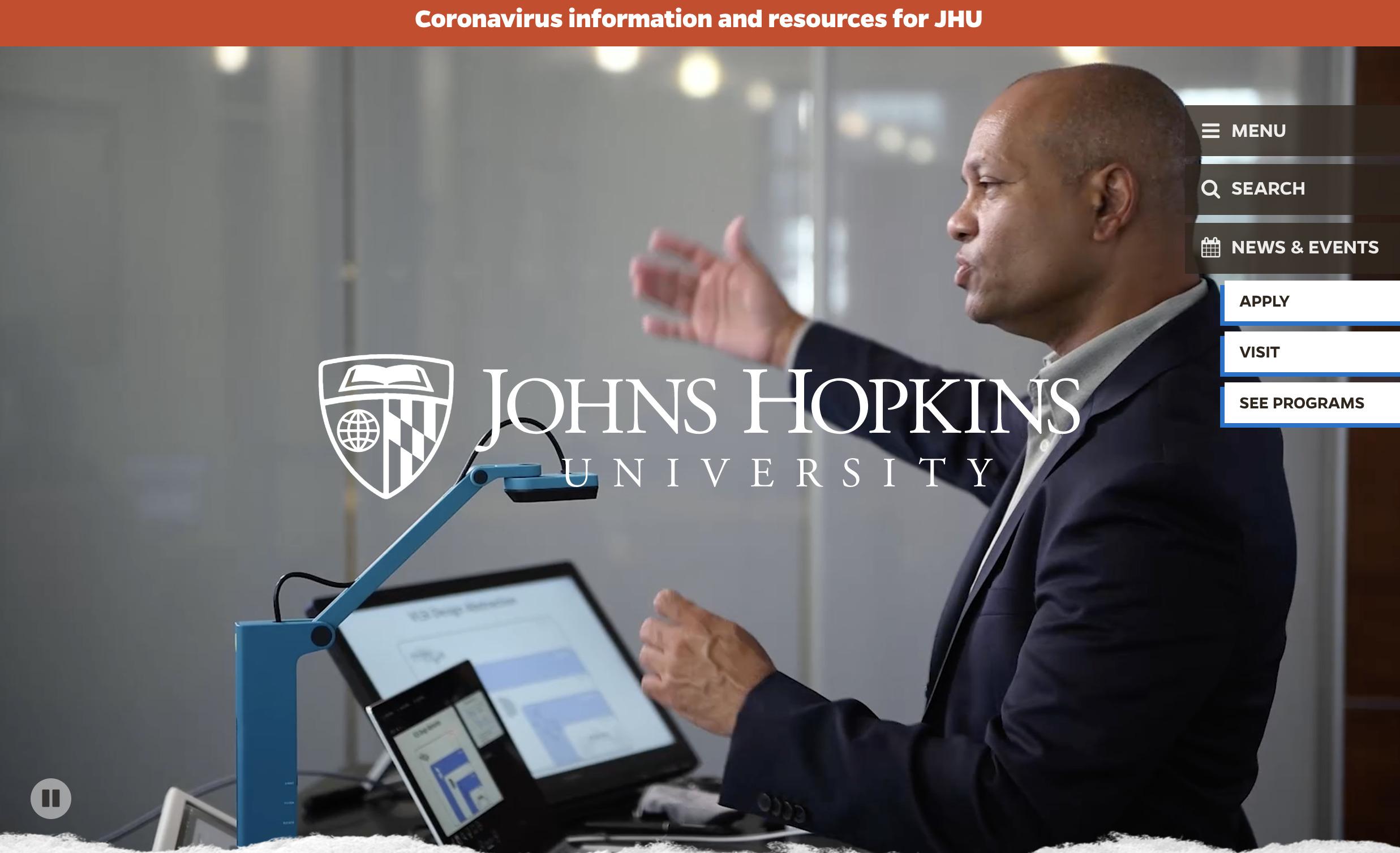 John Hopkins University Homepage